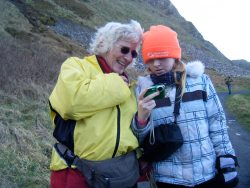 This is February 2010 at the Giant's Causeway, she is 10 in this picture, now 11, she is taller than I am. More important, an interested, interesting, reflective (from birth), wonderful girl.