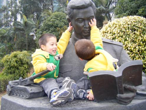 January 2011, Guangzhou (Mao statue)