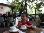 January 1st 2012 - Ali, waiting for lunch in Sanya