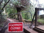 OOPs - the path was indeed closed - looking back