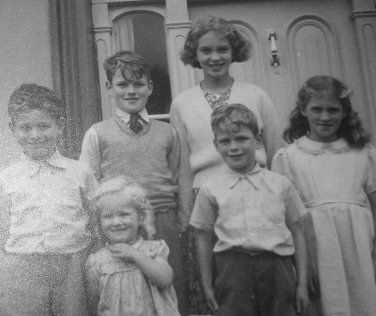 back from left: David George and Mildred; front from left: Lorna, Roddy and Yvonne