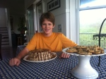 Kyle, an accomplished baker at 14, made cakes