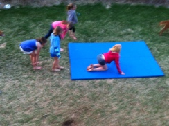 All the girls work off the food - they are all gymnasts