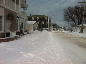 Treacherous walking along Water Street
