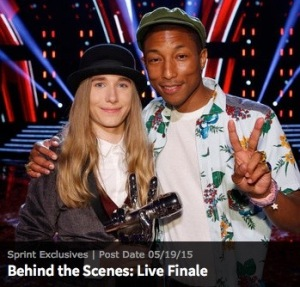 Sawyer and his coach Pharrell, from NBC.com