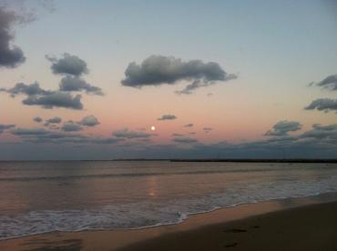Moonrise on a calm evening