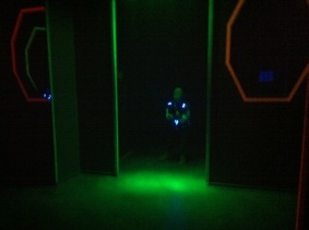 In the Lazertag zone