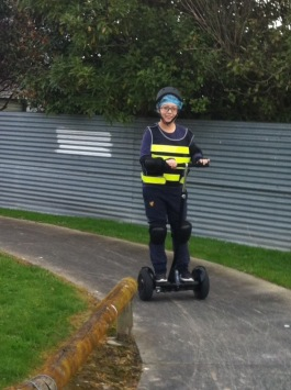 Louis felt more confident on a Segway with handlebars